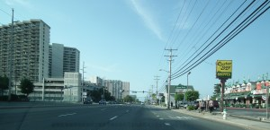 Ocean City Maryland on an early morning on Coastal Highway. THE CHESAPEAKE TODAY photo