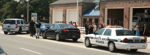 Rehoboth Police arrest a DUI driver.  Photo from Rehoboth Beach News weekend update by Alan Henney