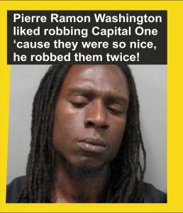 Pierre Washington bank robber