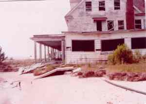 Point Lookout Hotel's final days. THE CHESAPEAKE TODAY photo