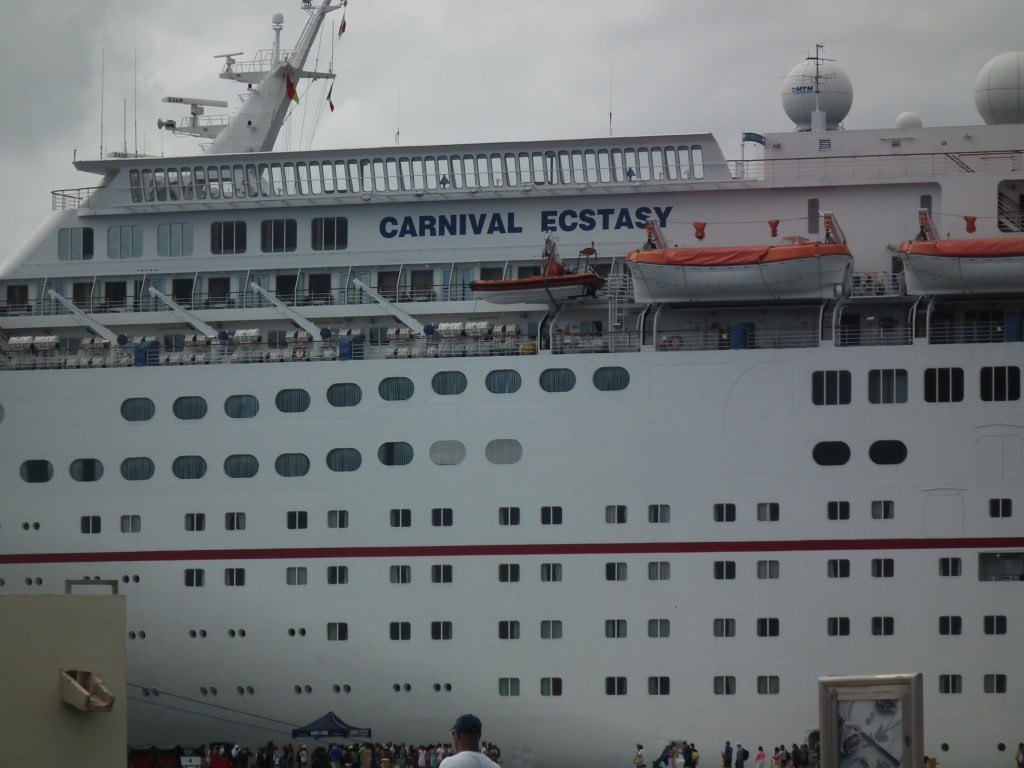 The Carnival Ecstacy docked at Cozumel, Mexico.  THE CHESAPEAKE TODAY photo