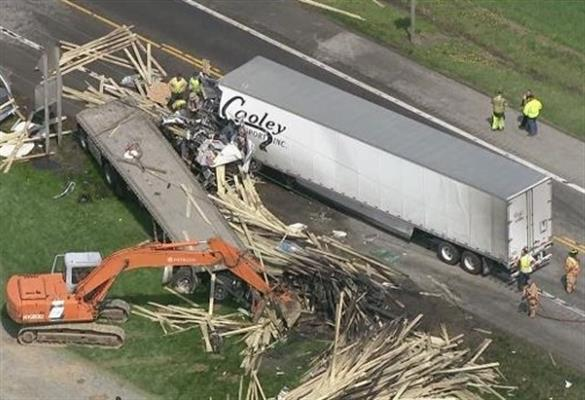 Tractor trailer mayhem on Rt. 404. photo courtesy of WBAL