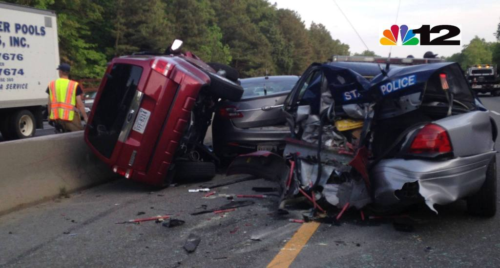 8 time suspended driver demolished two Va State Police cars