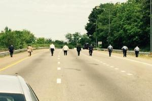 Cops canvas the highway WJLA Jeff Goldberg photo