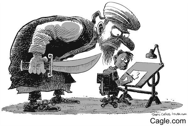 Terrorists in charge of free expression - Cagle