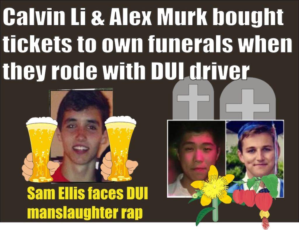 Sam Ellis will face double DUI rap for deaths of Calvin Li and Alex Murk