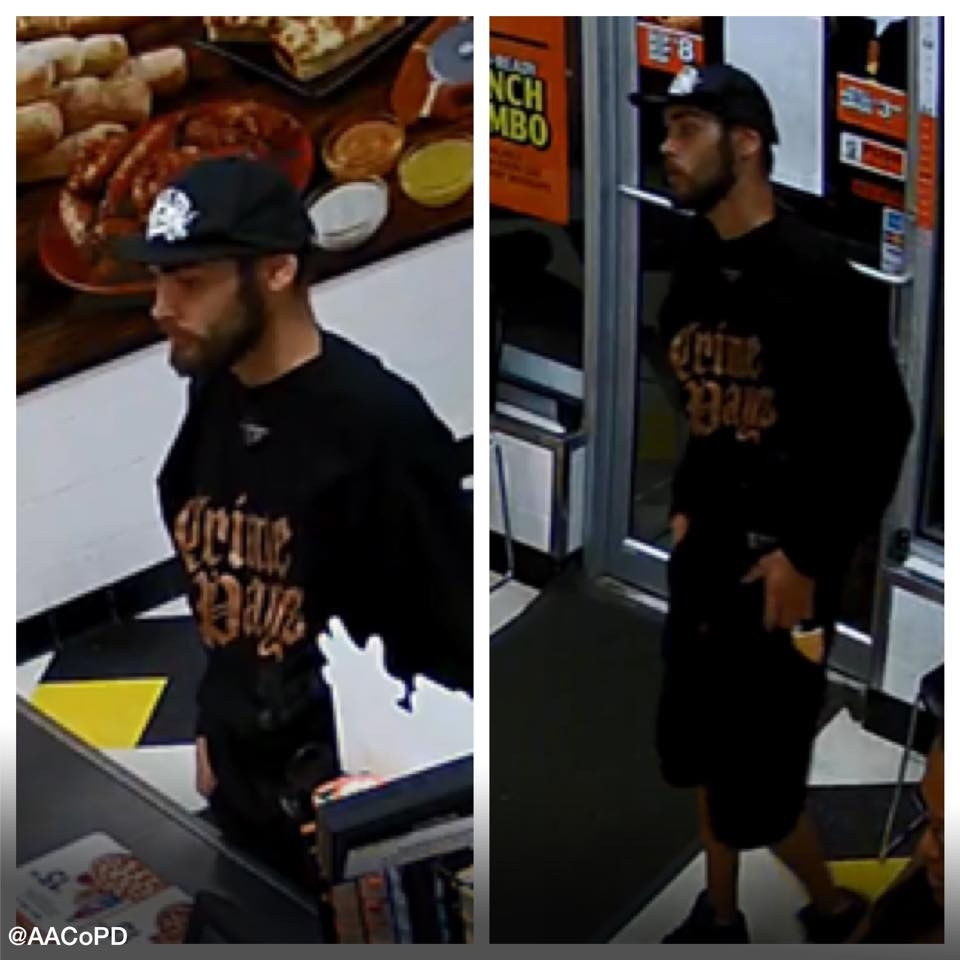 Armed Robbery suspect in Glen Burnie Little Caesars.