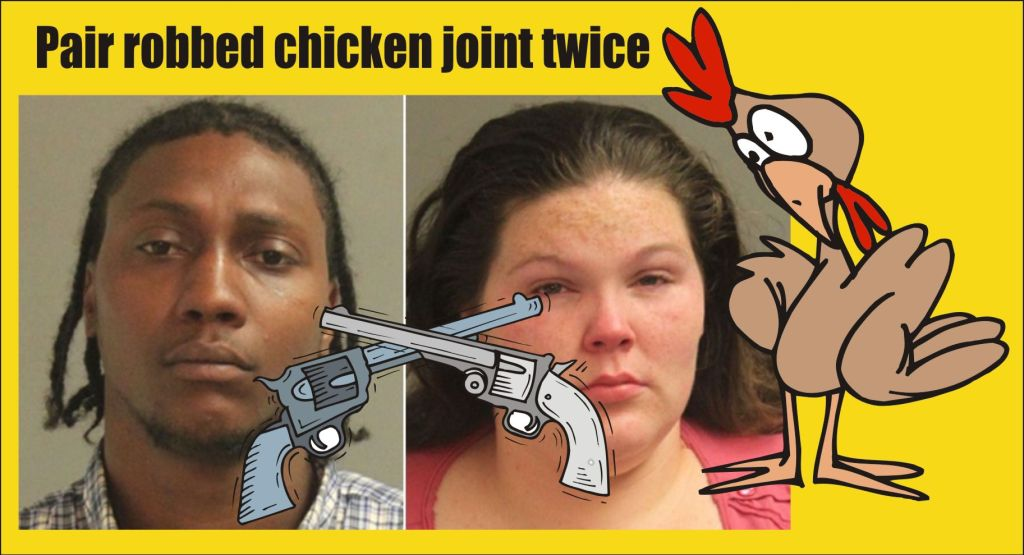 Pair robbed chicken joint twice