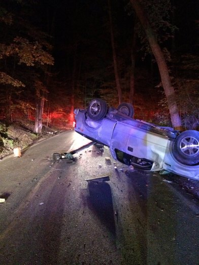 Fatal crash believed to be alcohol related; driver had prior DUI. Anne Arundel Fire Department photo