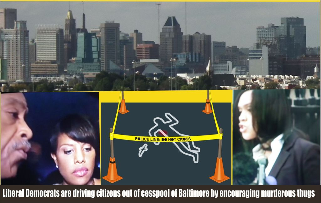 Liberal Democrats are driving citizens out of Baltimore