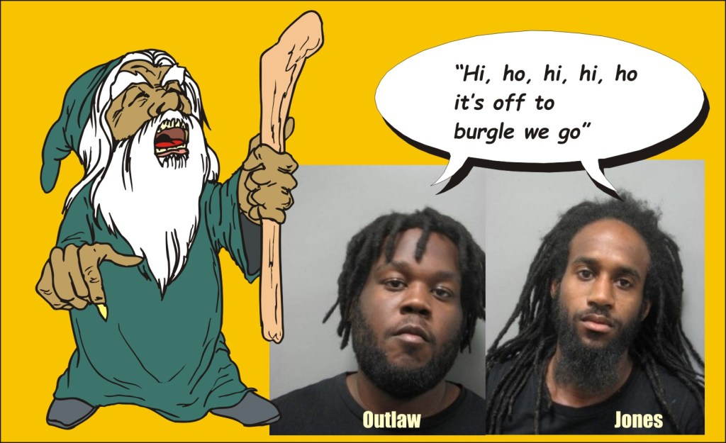 Outlaw and Jones burglars in Chevy Chase