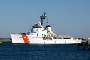 US Coast Guard Cutter Dependable moved to home port in Virginia Beach.