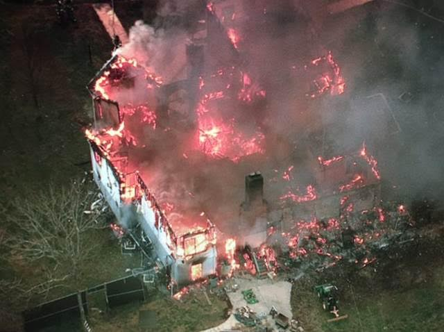 Accokeek blaze destroys house with sprinkler system. PGPD photo provided courtesy of Brad Freitas