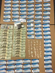 Heroin and cash haul from Gore, Gray & Glatz. Photo from Anne Arundel Police 010716