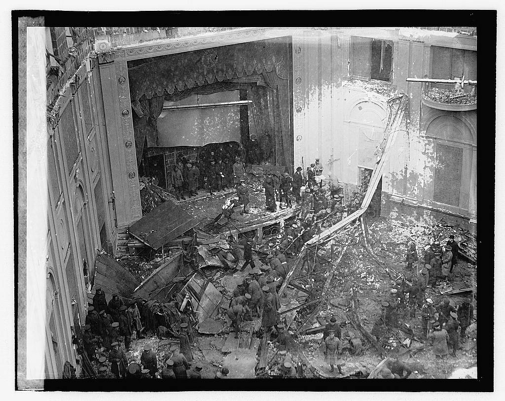 Knickerbocker Theatre interior Jan 18 1922 storm collapse Washington DC