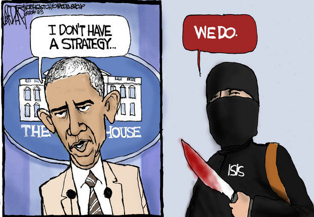 Obama doesn't have one and ISIS does
