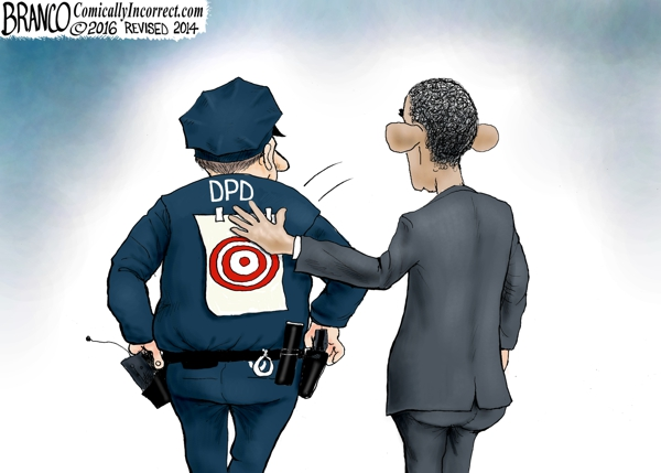 Obama's War on the Police put a target on backs of officers in Dallas