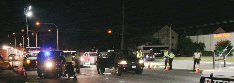 Rehoboth Police sobriety checkpoint The Beach News photo by Alan Henney