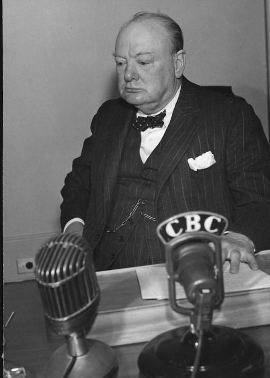 Winston Churchill at the QUADRANT Conference in Quebec, Canada August 1943