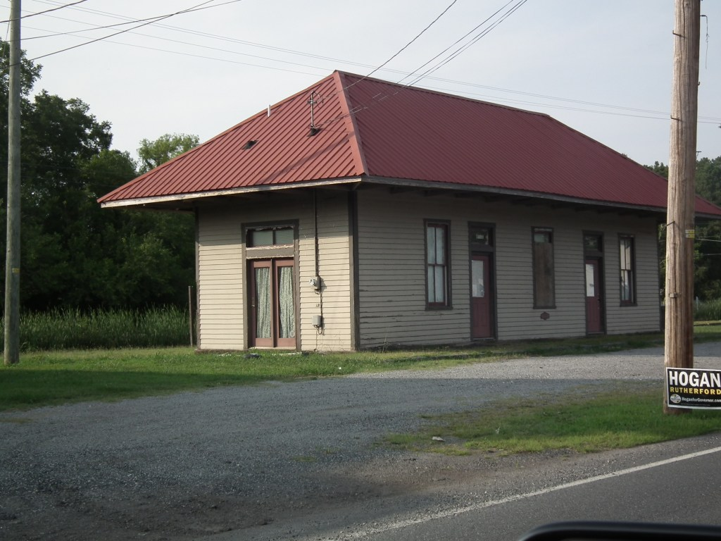 Marion Station, Md. This old building along the former railroad from Crisfield to the mainline stands idle today. THE CHESAPEAKE TODAY photo