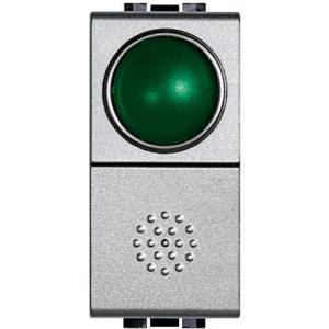 Light Tech Pulsante + Portalampade Verde Nt4038V