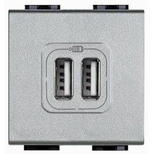 Light Tech Caricatore Usb 2 Prese 2400Ma Nt4285C2