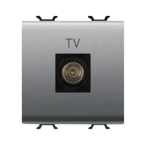 Chorus Presa Tv 2M Dir. Connettore Maschio 9,5Mm Titanio GW14367