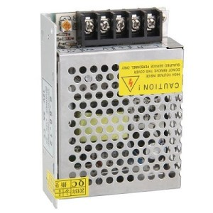 ALIMENTATORE SWITCHING IN METALLO 12V 5A MINI 113X80X40MM