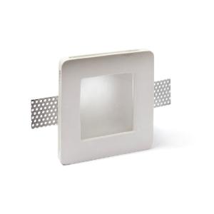 Faretto in gesso quadrato con vetro