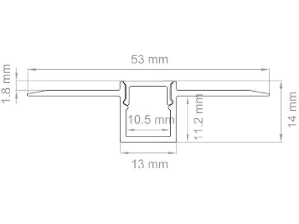 Prifilo per strip LED taglio luce PRKITTLN LAMPO