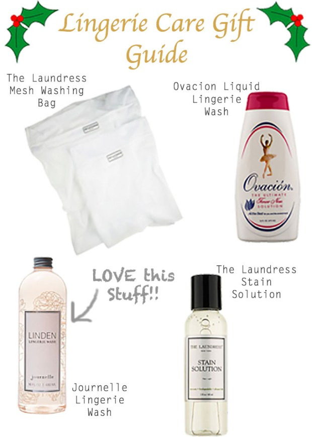 LINGERIE CARE GIFT GUIDE, Christmas Gift Guide, Lingerie Care, Lingerie Wash, luxury lingerie, quality lingerie, sexy lingerie, The Laundress Mesh Washing Bag, Ovacion Liquid Lingerie Wash, Journelle Lingerie Wash, The Laundress Stain Solution, Journelle