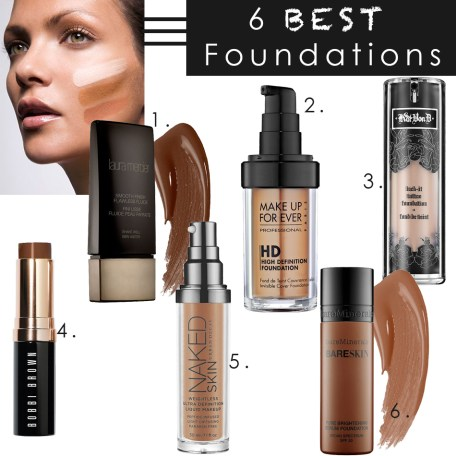 6 best foundations, What is the best makeup foundation, foundation makeup, white foundation makeup, makeup foundation reviews, best foundations for acne prone skin, best liquid foundation, best makeup foundation for oily skin, best foundation for oily skin, best foundation for dry skin, best foundation for combination skin, best matte foundation, best full coverage foundation, full coverage foundation, Make up forever HD Invisible Cover Foundation, Make up forever HD Invisible Cover Foundation Review, Urban Decay Naked Foundation, Urban Decay Naked Foundation Review, Urban Decay Naked Review, Bare Minerals BareSkin Pure Brightening Serum Foundation, Bare minerals BareSkin pure brightening serum foundation review, Laura Mercier Smooth Finish Flawless Fluide foundation, Laura Mercier Smooth Finish Flawless review, Bobbi Brown Skin Foundation Stick, Bobbi Brown Skin Foundation stick review, Kat Von D Lock it tattoo foundation, Kat Von D lock it tattoo foundation review, beauty blogger, beauty product review, fashion blogger, nyc beauty blogger