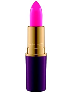 Hot pink holiday lipstick