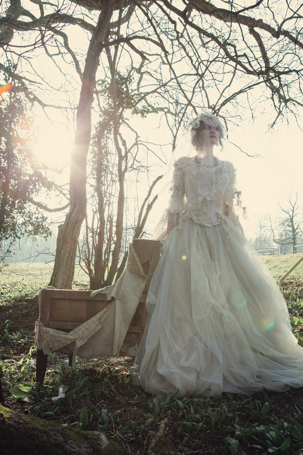 A haunting decaying Miss Havisham shoot photographed by Assassynation  The Couture Company