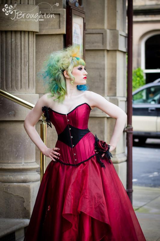 An alternative Victorian gothic wedding dress inspiration