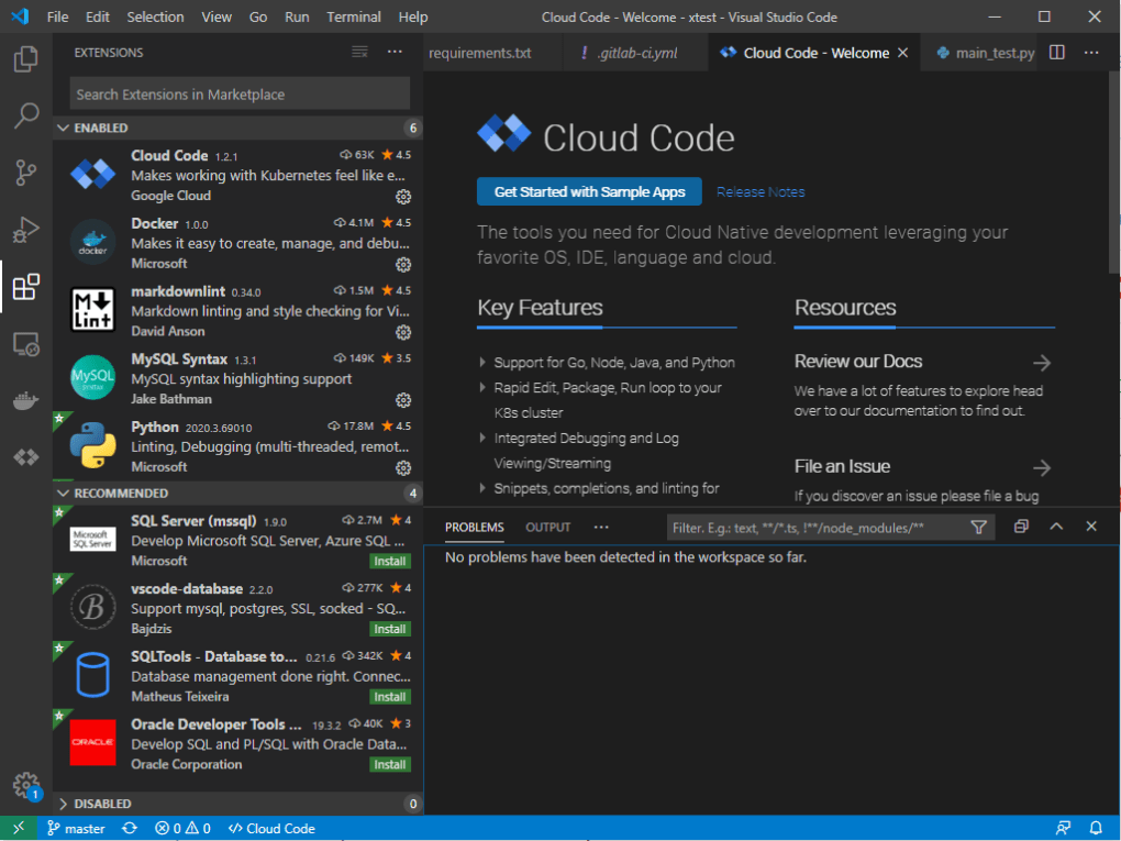 This shows the GUI of Visual Studio Code