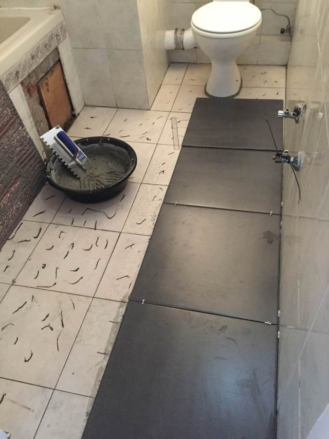 tiling over tiles progress