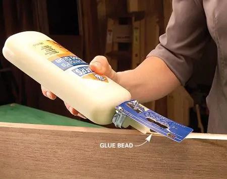 credit card glue spreader