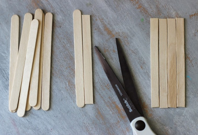 cut and trim sticks