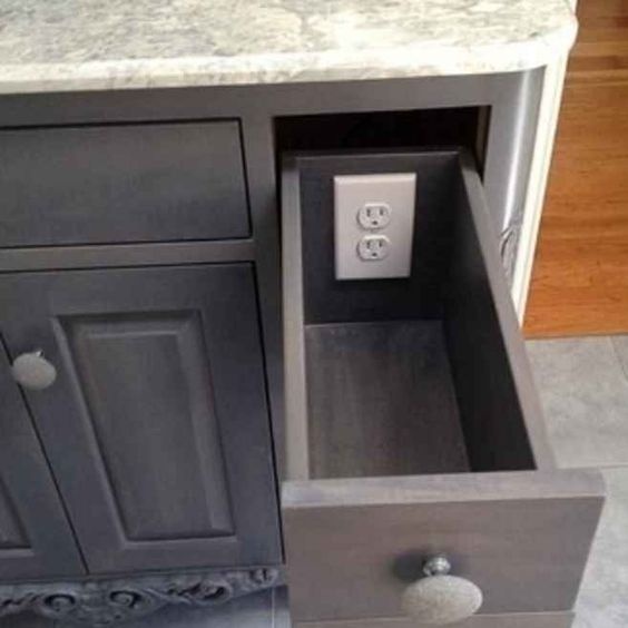 The Second Option Is To Install A Proper Electrical Outlet In The Back Of  The Drawer. This Requires An Outlet With A Closed Or Covered Back Panel, ... Part 50