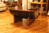 Reclaimed Whiskey Barrel Coffee Table | The DIY Life