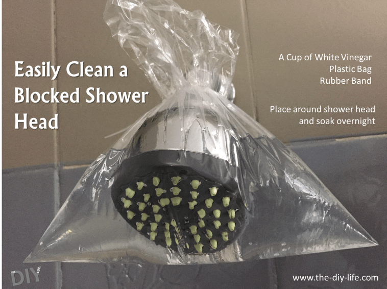 cleaning a blocked shower head