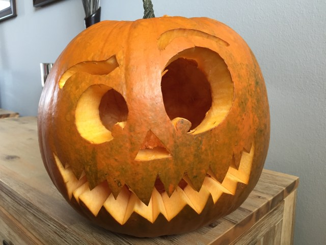 the carved pumpkin