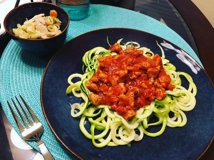 homemade zucchini noodles