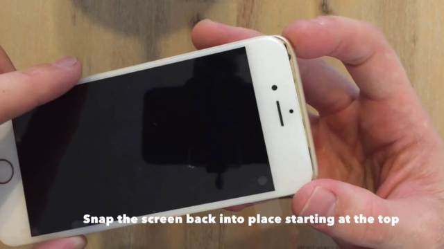 snap the screen back into place