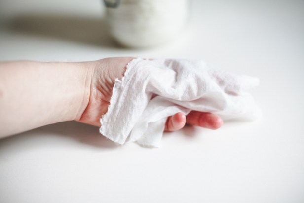 homemade cleaning wipes, single wipe