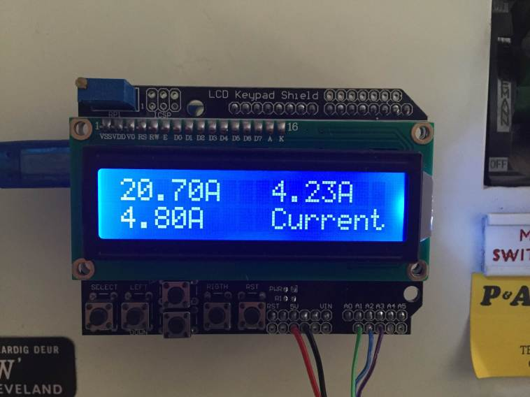 3 phase energy meter current screen