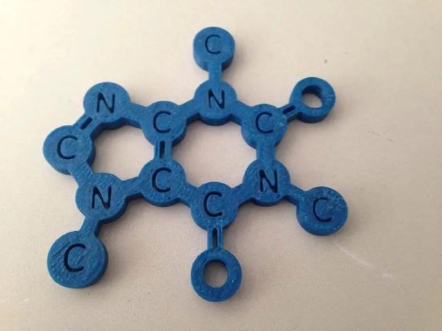 caffeine molecule coffee coaster