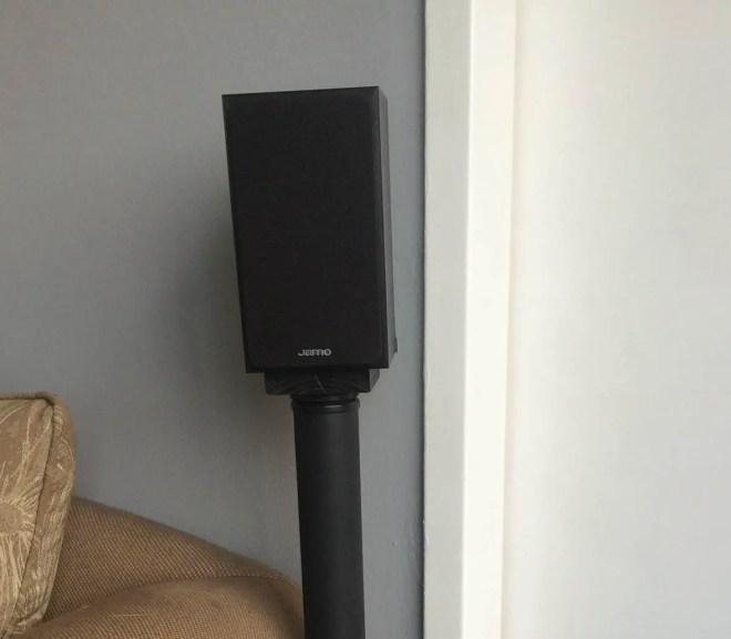 homemade surround sound speaker stand