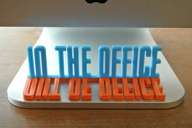 out of office flip sign